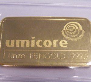 1 ounce goudbaar
