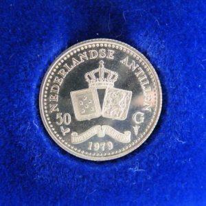 Gouden 50 gulden Nederlandse Antillen