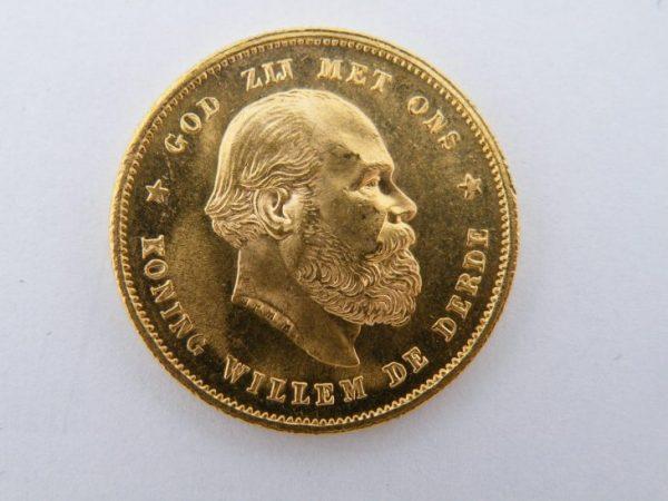 Gouden tientje Willem 3