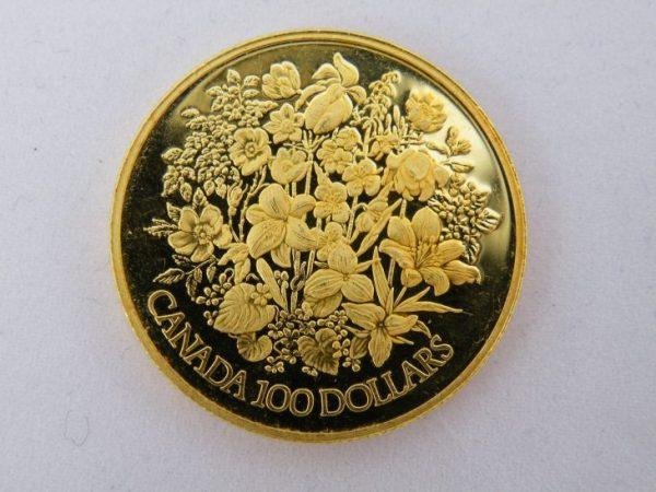 $ 100 Canada goud