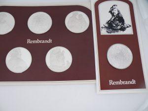 Zilveren penningen Rembrandt