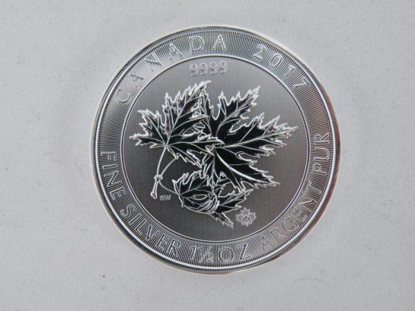Superleaf 1,5 oz zilveren munt