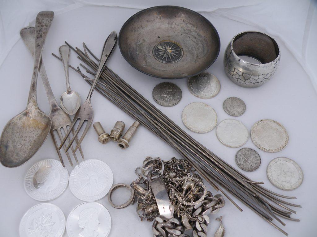 Zilver in verschillende vormen