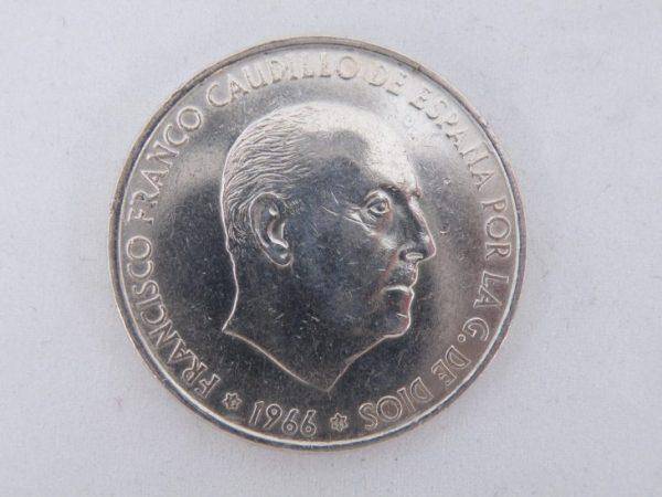 100 pesetas zilver