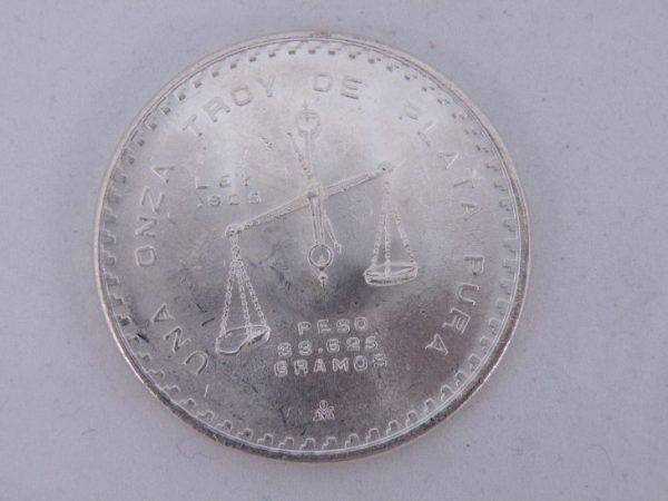 una onza troy de plata pura zilver Mexico