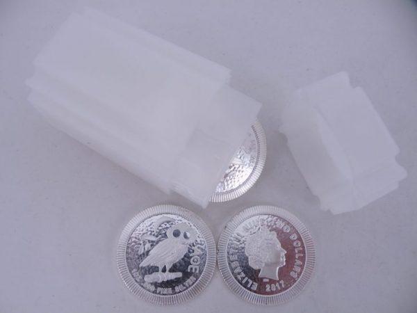 1 tube zilveren Athenian Owl ounce zilver