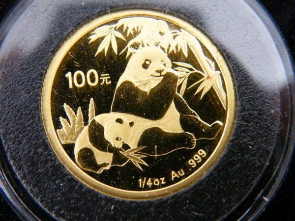 Gouden panda 1/4 ounce