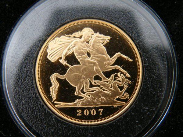 Gouden sovereign 2007
