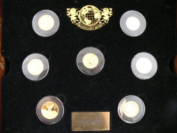 Magnificent seven gouden munten