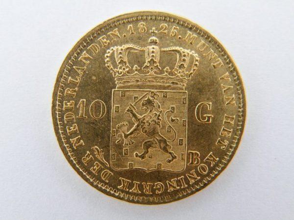 Gouden tientje Willem 1 1825B