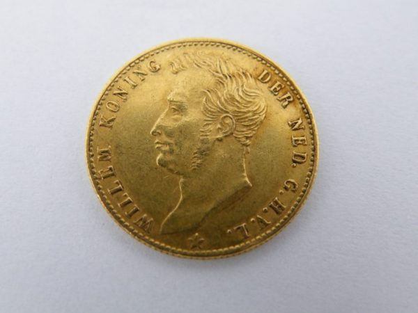 Gouden vijfje Willem 1 1827B