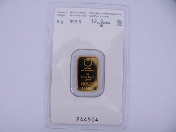 5 gram goudbaar