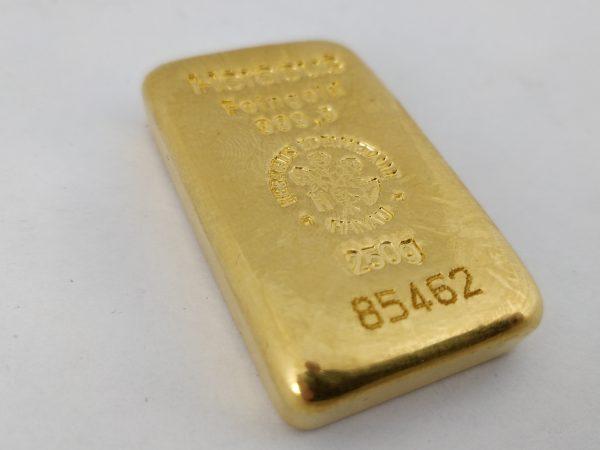 Goudbaar 250 gram Heraeus