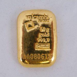 Goudbaar 50 gram Valcambi Suisse