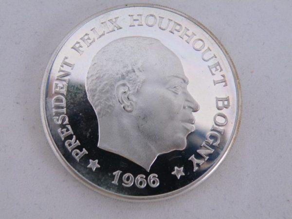 10 francs ivoorkust zilver