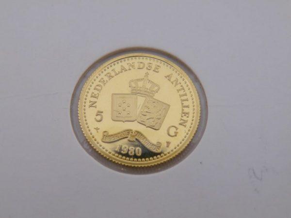 5 gulden Nederlandse Antillen gouden munt