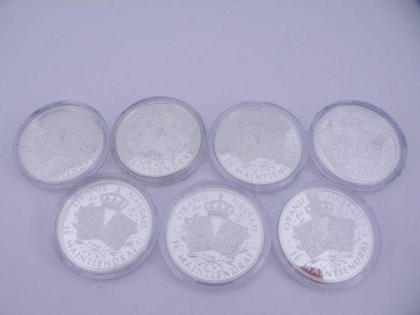 Zilveren penningen Oranje Nassau