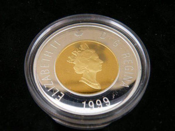 1999 Nunavut $ 2 coin silver