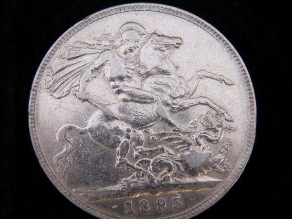 1 crown silver great brittain 1893