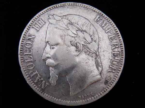 5 Francs zilver Frankrijk 1867