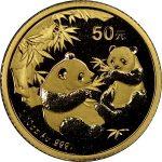 Gouden panda 50 yuan voor 2016