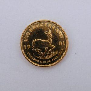 1/10 krugerrand gouden munt