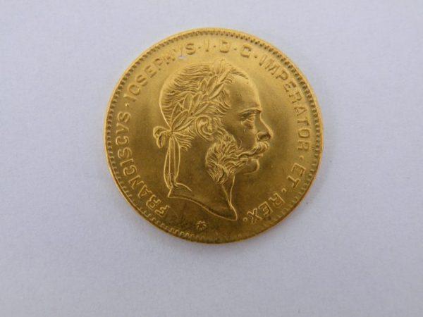 4 Florin Oostenrijk gouden munt