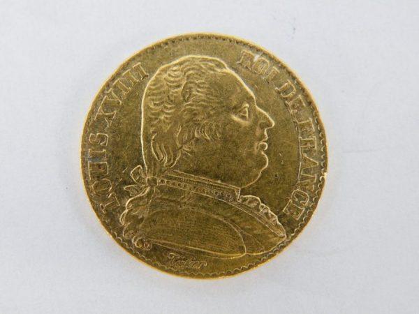 20 francs goud louis XVIII