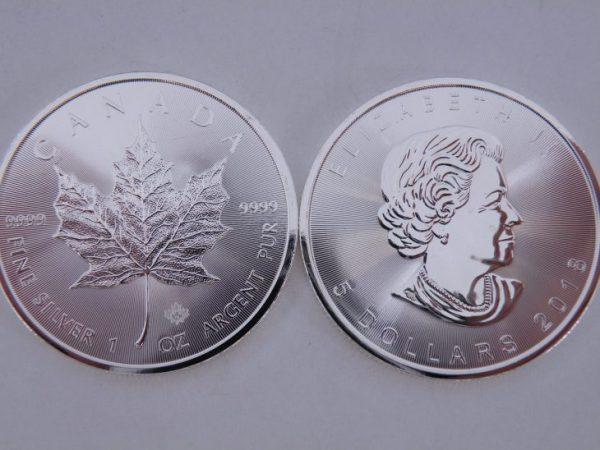 1 Ounce zilveren maple leaf 2018