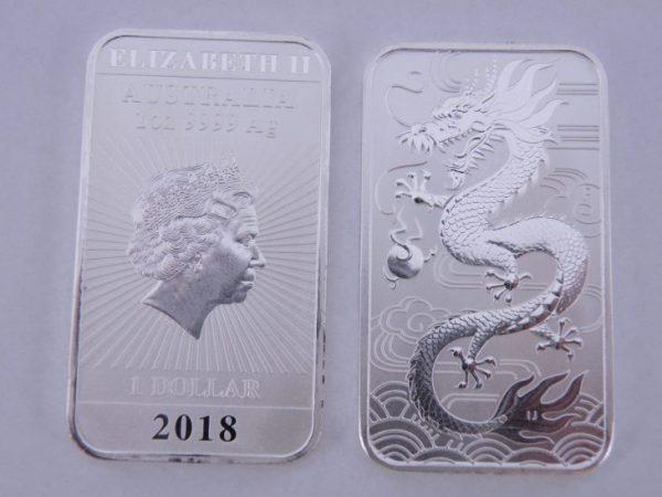 1 Ounce muntbaar Dragon 2018