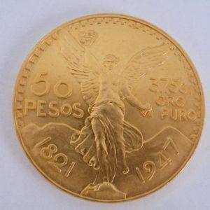 50 Pesos Mexico gouden munt