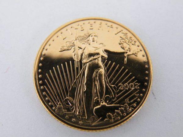 1/4 ounce goud liberty eagle 2002