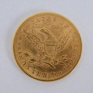 $ 10 dollar gouden half liberty