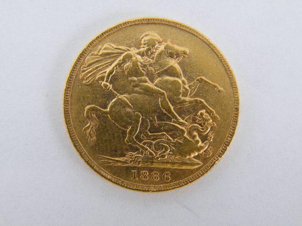 Gouden Sovereign Victoria vroeg
