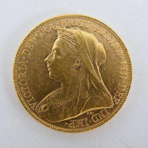 Gouden Sovereign Victoria laat