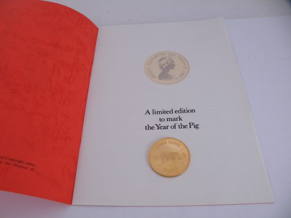 Lunar year of the pig 1983 gold