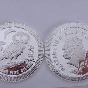 Zilveren Niue Athenian Owl 1 troy ounce 2018