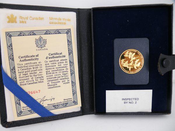 $ 100 Canada gouden munt 1978