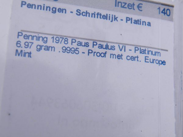 Platina penning paus Paulus