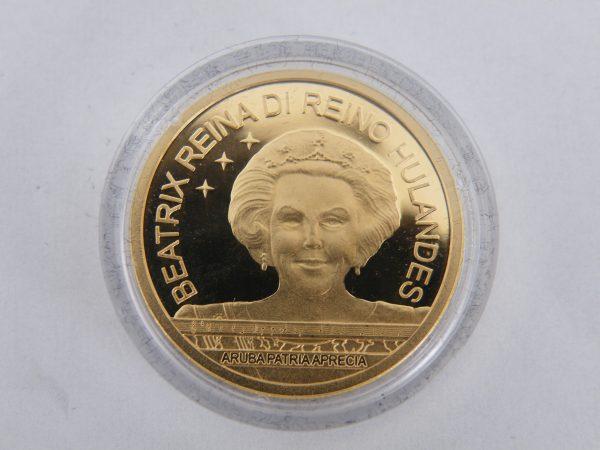 25 Florin gouden munt Aruba