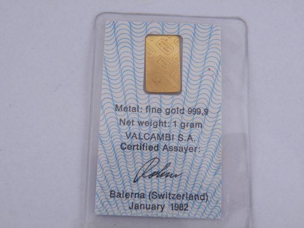 1 gram goudbaar Credit Suisse