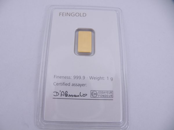 1 gram goudbaar degussa