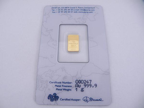 1 gram goudbaar pamp suisse