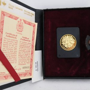 Gouden $ 100 Canada munt half troy ounce goud 1977