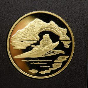 Gouden $ 100 Canada munt half troy ounce goud 1980