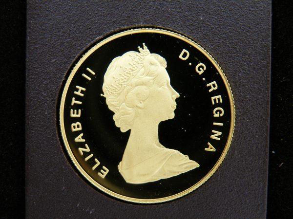 Gouden $ 100 Canada munt half troy ounce goud 1979