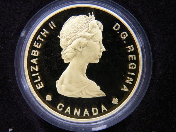 Gouden $ 100 Canada munt half troy ounce goud 1984