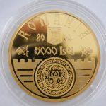 5000 Lei Roemenië gouden munt 1 troy ounce 2004