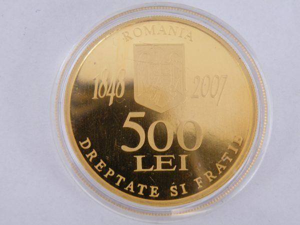 500 Lei Roemenië gouden munt 1 troy ounce 2007