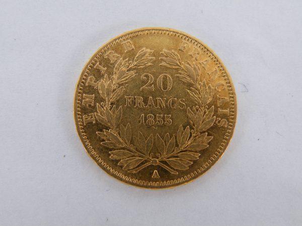 20 Francs Frankrijk 1855 goud